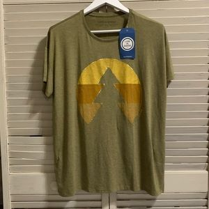 Life Is Good Olive Green Shortsleeved Tee NWT